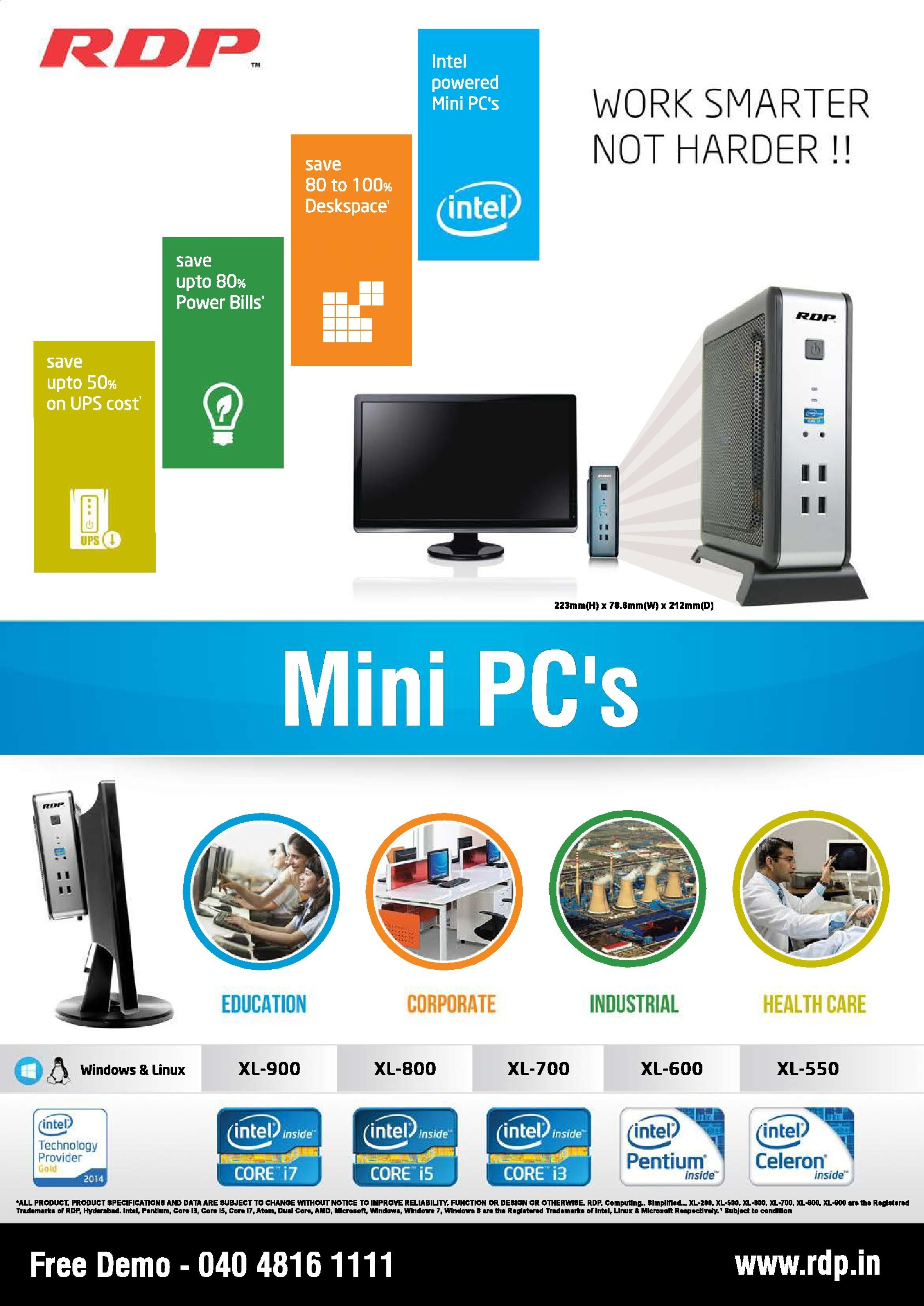 RDP Mini PC is small but extremely powerful, Powered by