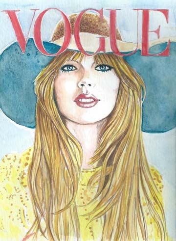 Taylor Swift watercolor painting and Print by Karen Haring
