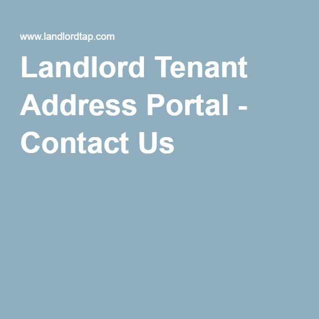 Landlord Tenant Address Portal - Contact Us