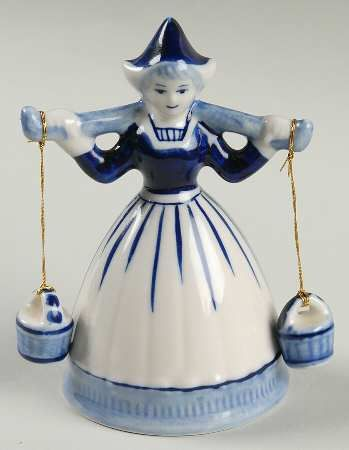 Pottery & China Latest Collection Of Delft Blue Dutch Milk Maid Hand Painted Beautiful And Charming Pottery & Glass