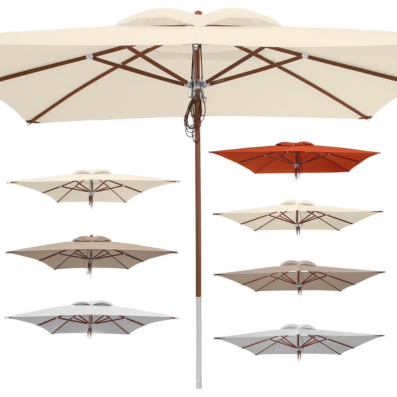 anndora Sonnenschirm Deluxe 3 x 4 m 4 x 4 m UV Schutz Auswahl