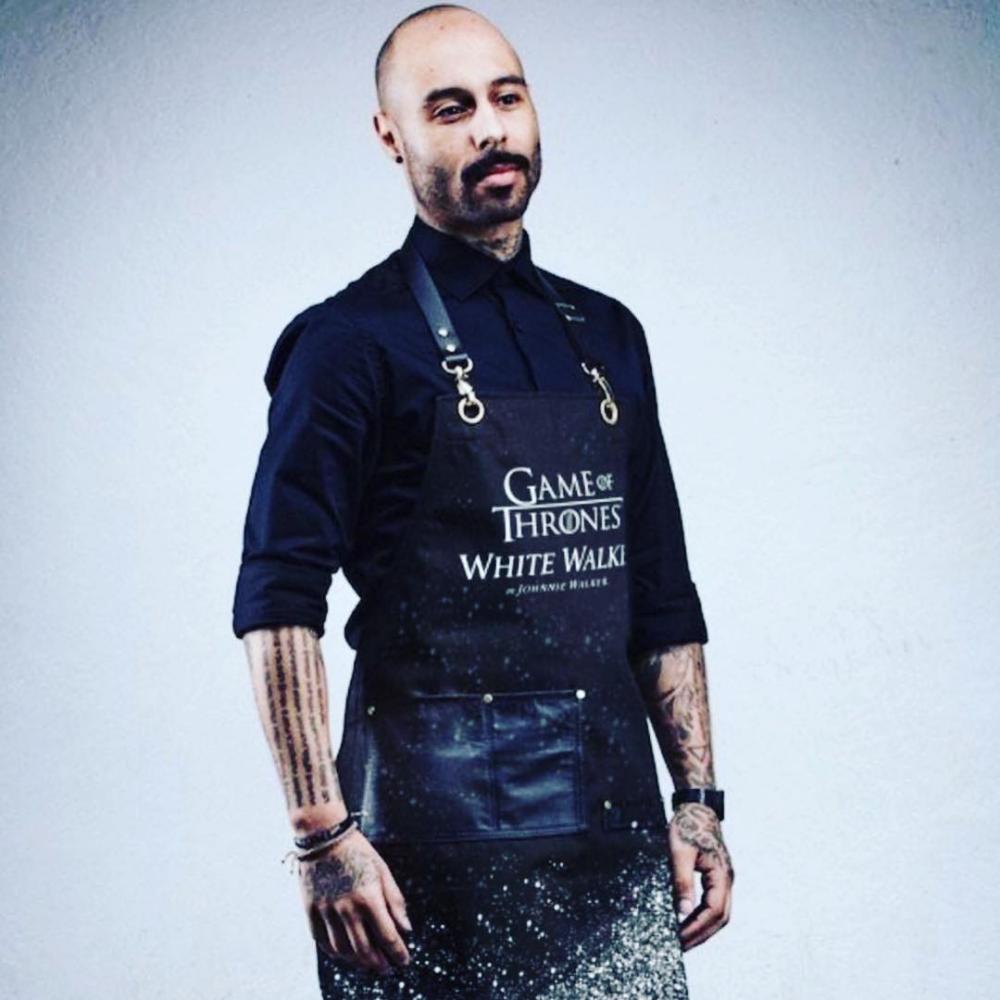 Custom branded Game of Thrones White Walker apron for