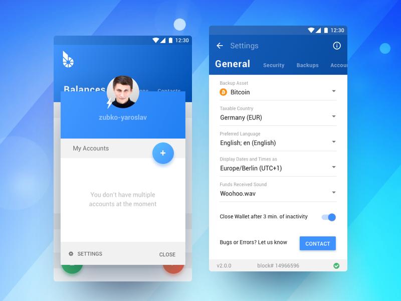 BitShares Munich  Carbon (Smartcoins Wallet v2 0) | UI