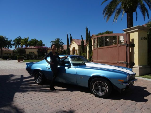 Seller of Classic Cars – 1973 Chevrolet Camaro (Blue/Black) #classic car blue