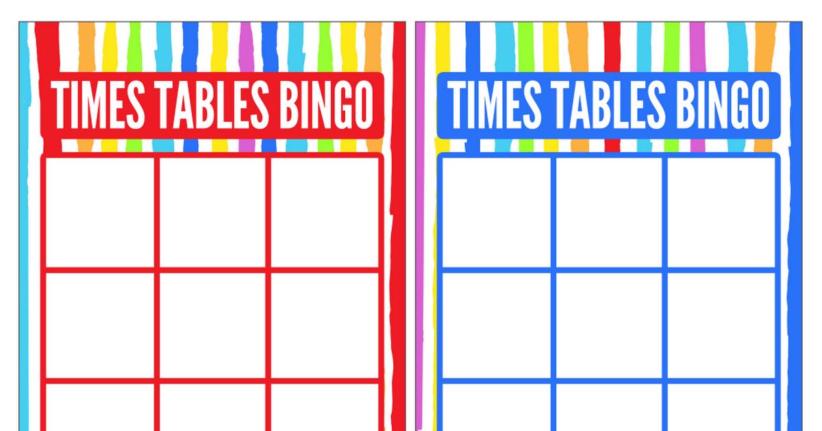 Times Tables Bingo Game Printable.pdf | Home | Pinterest ...