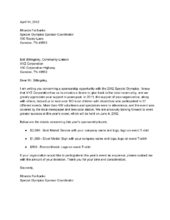 Write A Letter Requesting Sponsorship  Fundraising Nonprofit