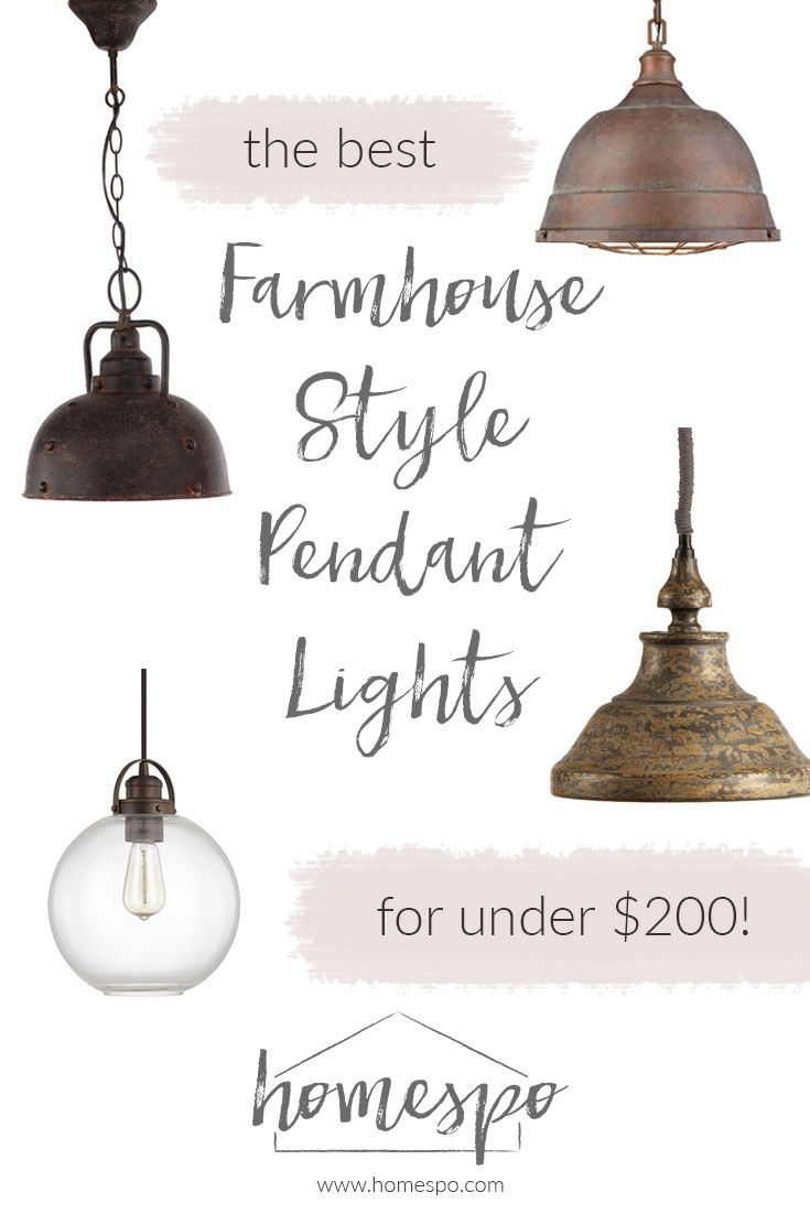 My Favorite Farmhouse Style Kitchen Pendant Lights (for under $200 ...