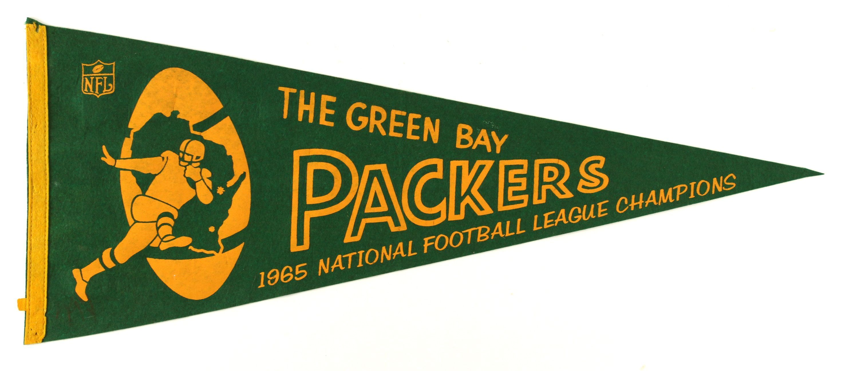 Lot Detail 1965 Green Bay Packers National Football League Champions Full Size 29 Pennant National Football League National Football Green Bay