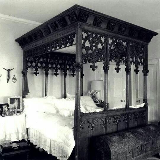 Gothic Four Poster Bed Gothic Bedroom Furniture Modern Interior