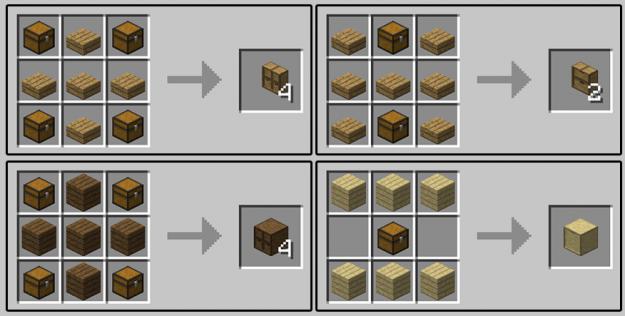 Storage Drawers Minecraft Mods Minecraft Crafting Recipes Storage Drawers