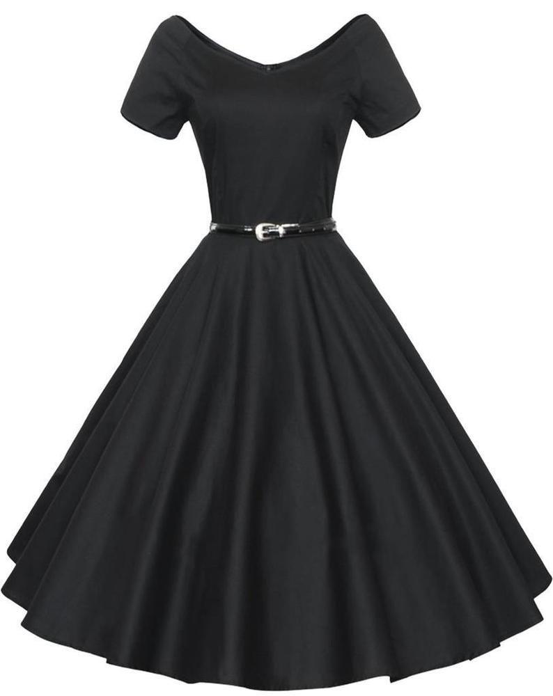 Details zu Gigileer Dame 50er Swing Kleid Retro Vintage Rockabilly ...