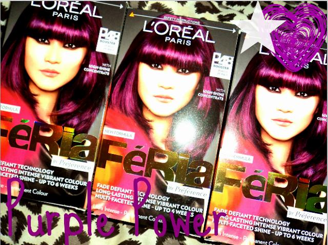 Barbie Sparkles ♥: L'Oreal Feria Permanent Hair Colour P48 Purple Power.
