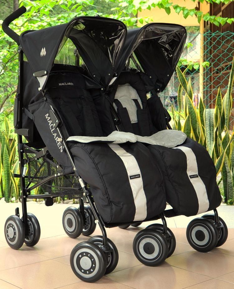 Maclaren Twin Techno with footmuffs. Best double stroller