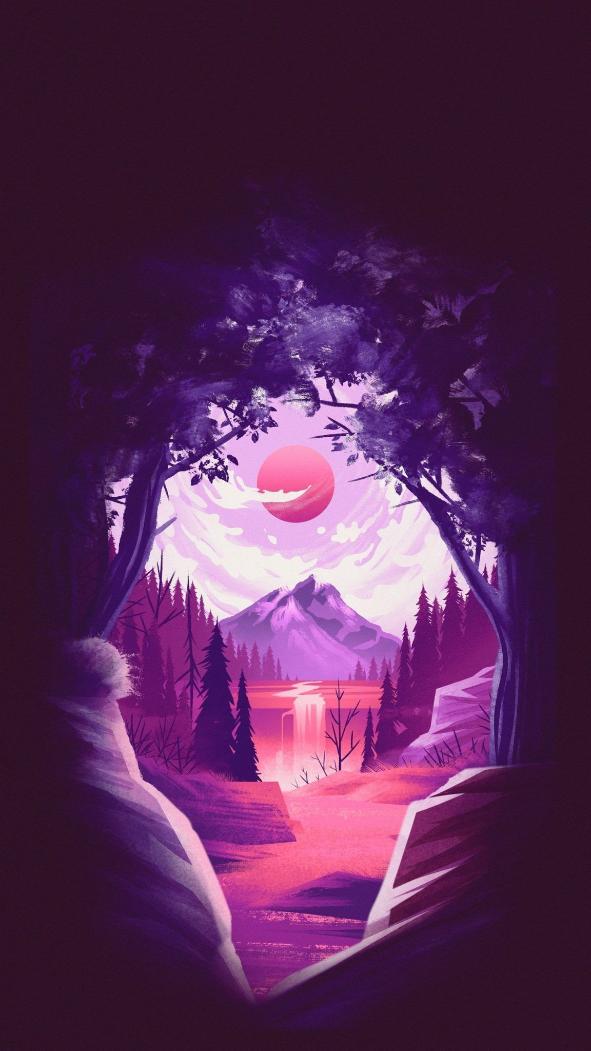 Amoled Archives Traxzee Minimal Wallpaper Iphone Wallpaper Landscape Anime Scenery Wallpaper