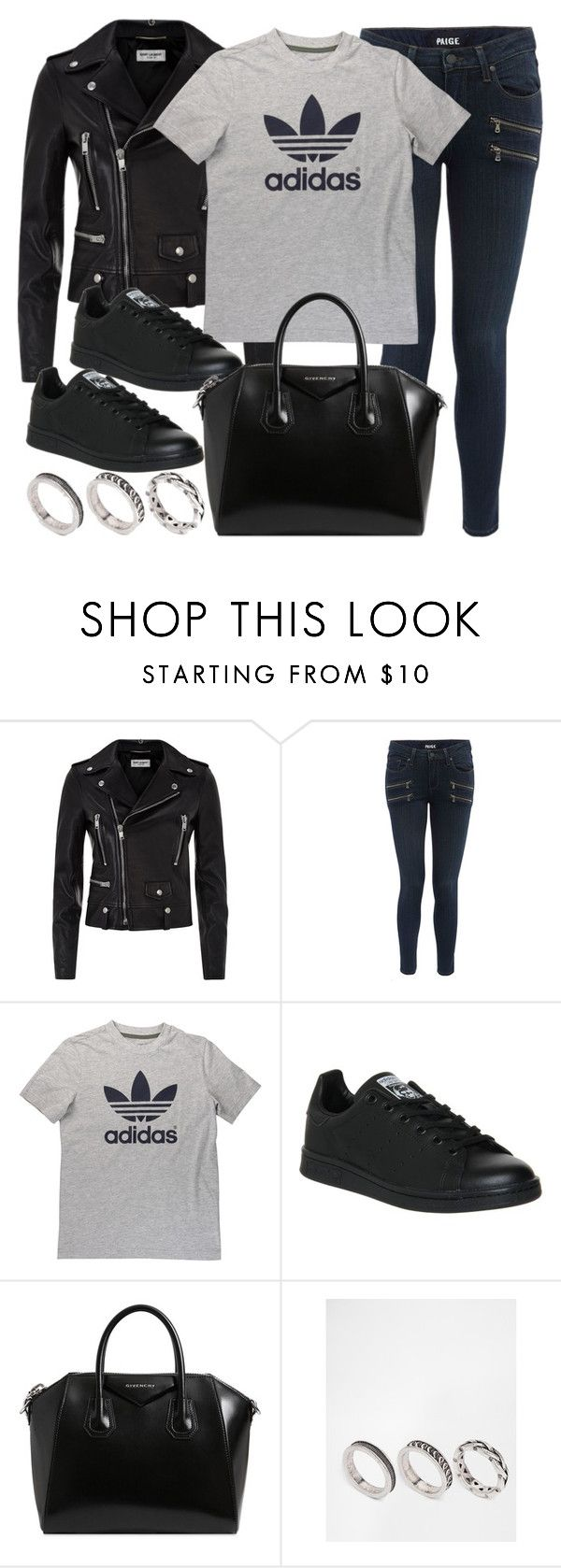 """Style #11188"" by vany-alvarado ❤ liked on Polyvore featuring Yves Saint Laurent, Paige Denim, adidas, Givenchy and ASOS"