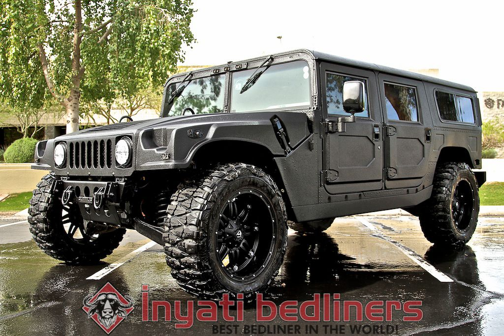 Hummer H1 completely coated with Inyati sprayed in bed