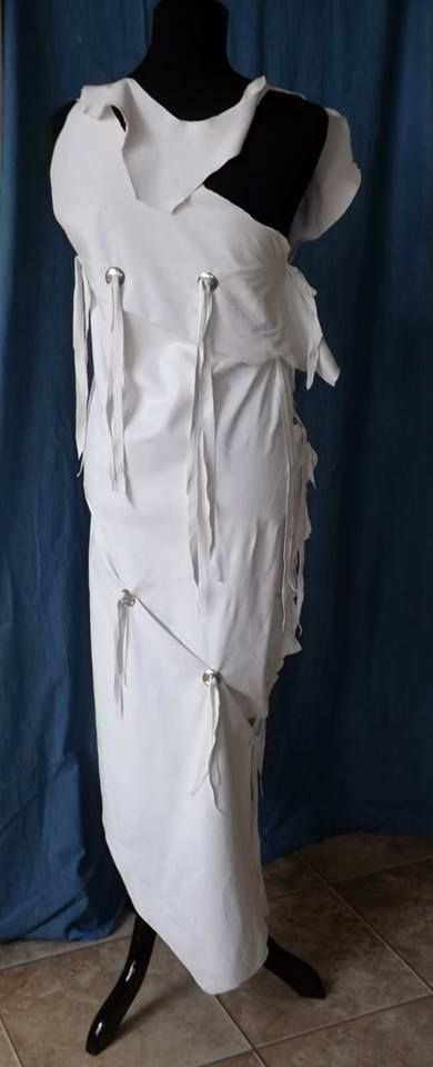 Spottedeagleart White Leather Wedding Dress | Unique Wedding Dresses ...