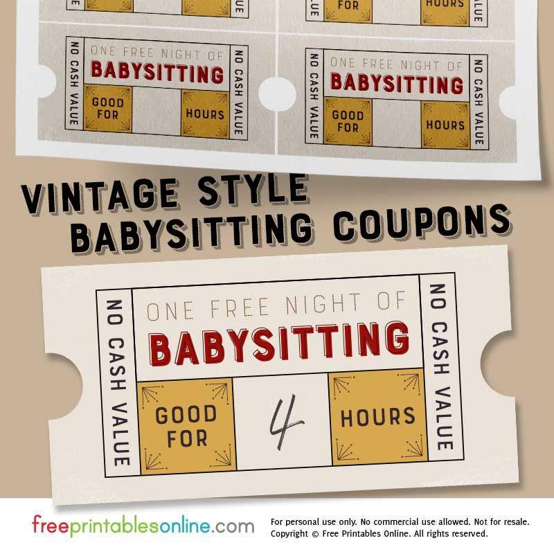 free babysitting templates