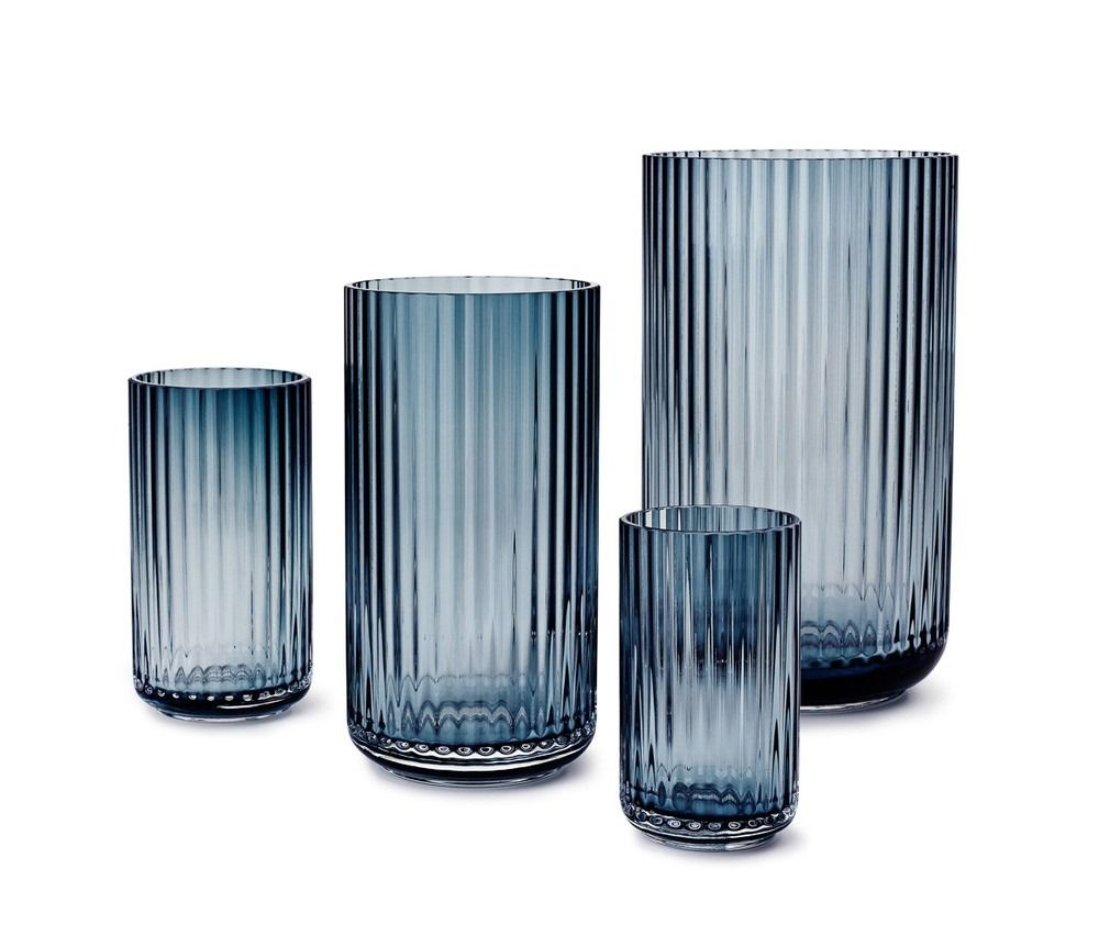Lyngby Blue Glass Vase - Vases & Centerpieces - Dining