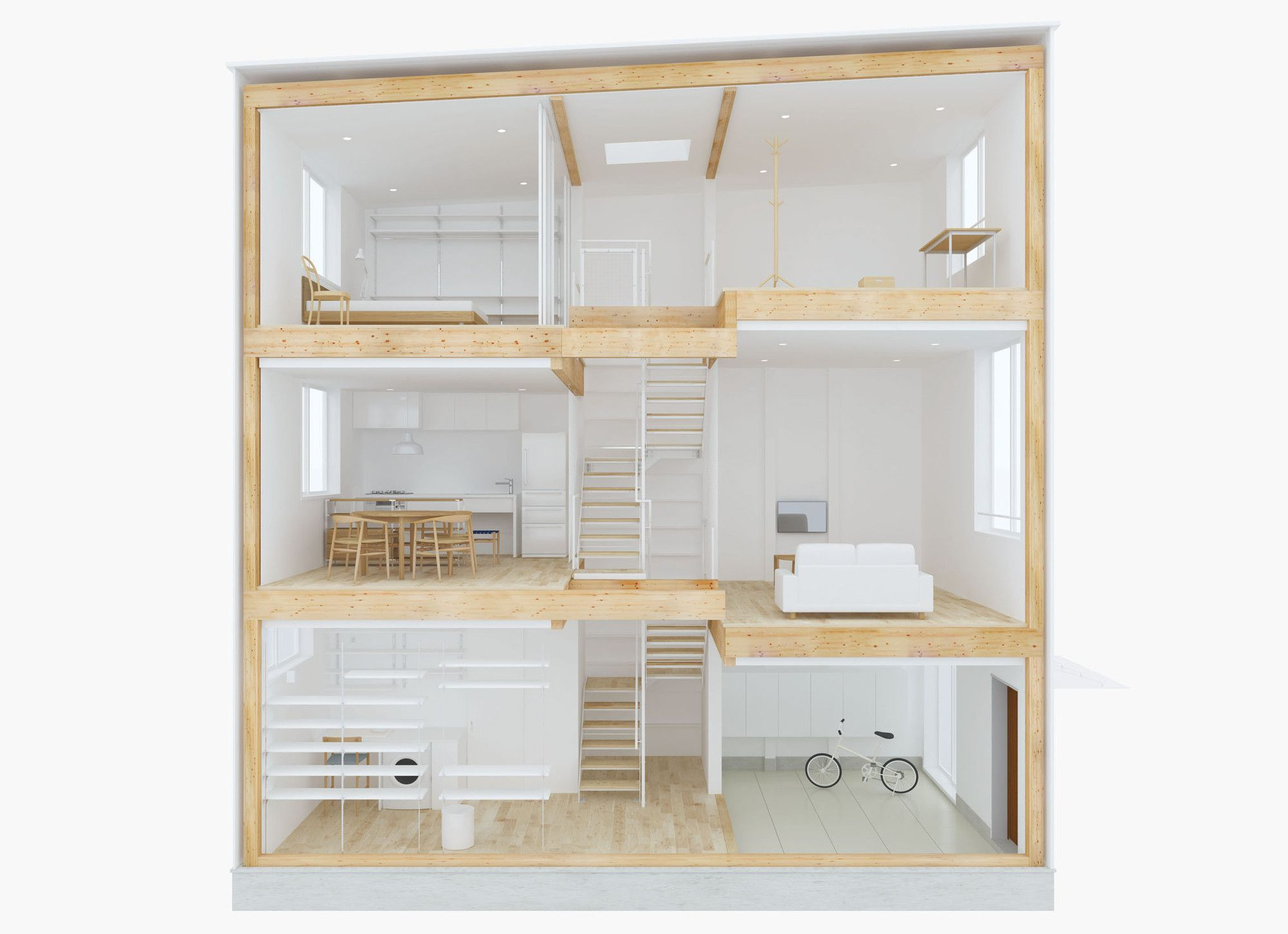 Gallery   Design Your Own Home With MUJIu0027s Prefab Vertical House   6