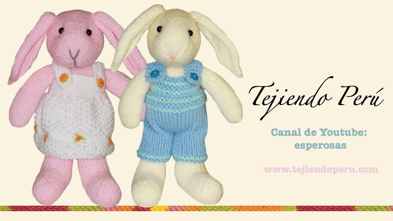 Conejos tejidos en dos aguj… | https://www.facebook.com ...
