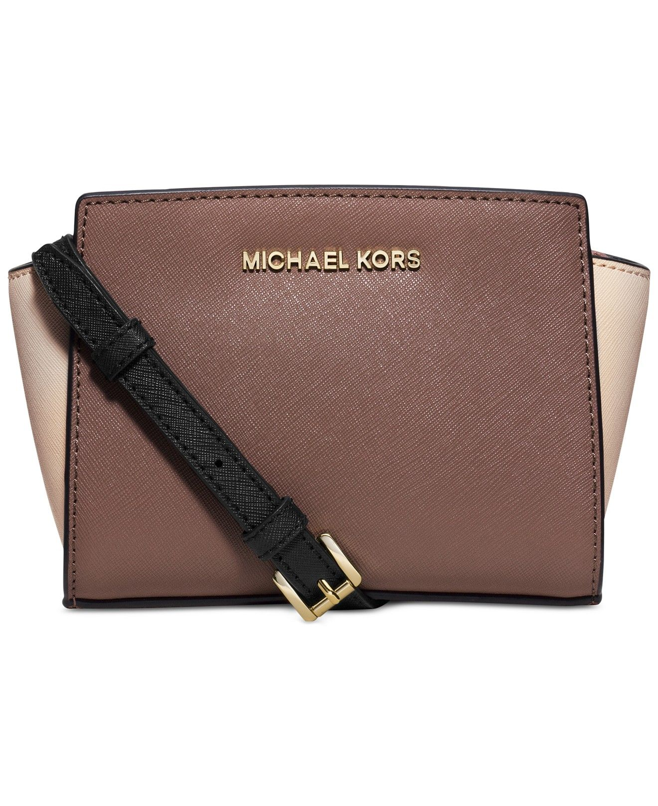73c9ee855f09 ... in classic saffiano leather. MICHAEL Michael Kors Selma Mini Messenger  Bag - MICHAEL Michael Kors - Handbags & Accessories - Macy's