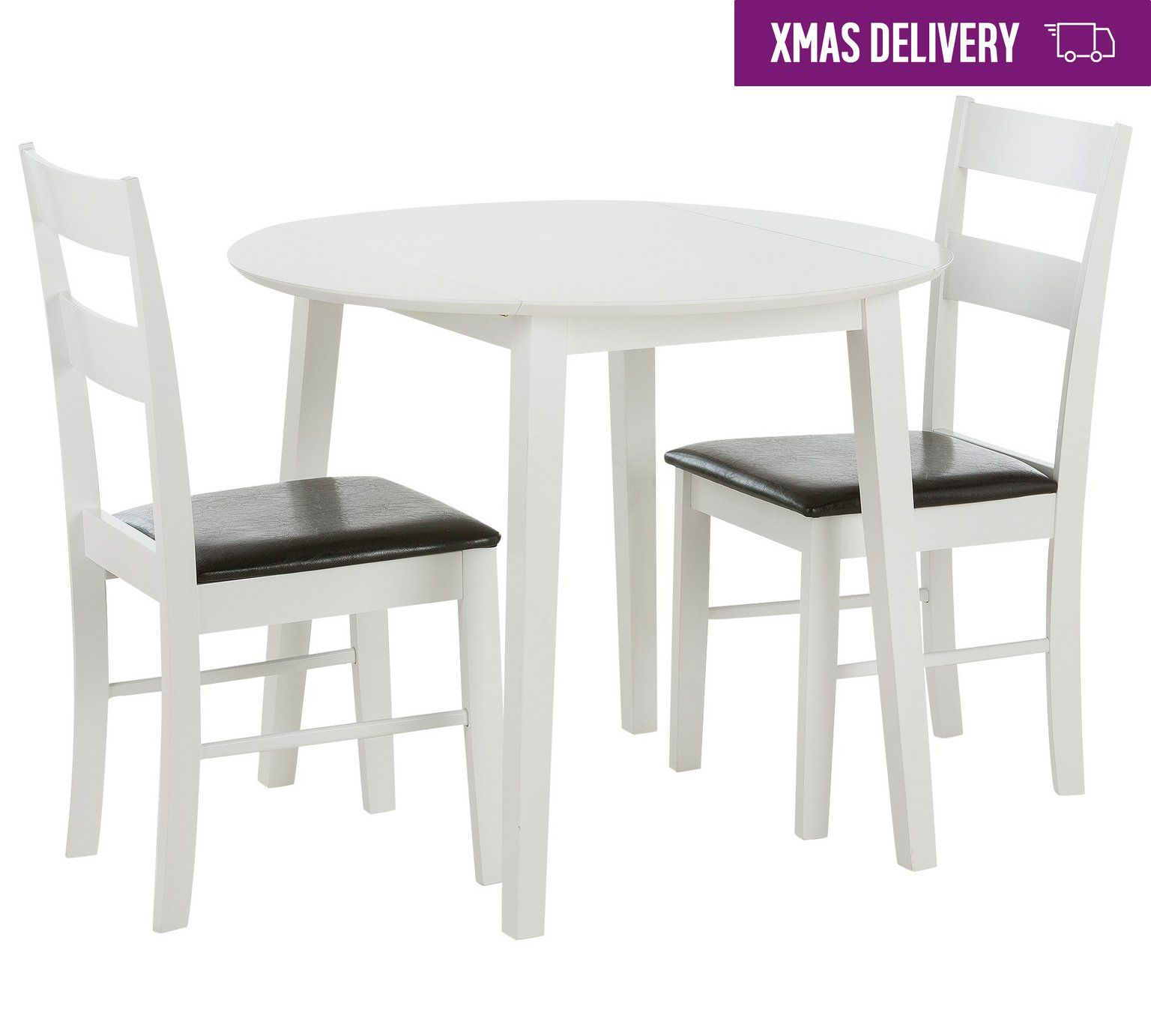 Buy home wyton round drop leaf table u chairs white at argos