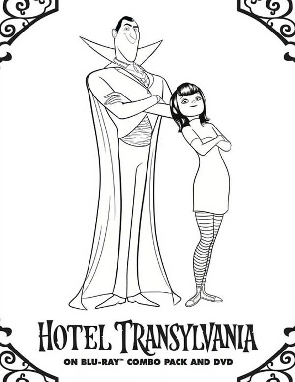 Hotel Transylvania Owner Count Dracula And Mavis Coloring Pages Bulk Color In 2020 Hotel Transylvania Transylvania Dracula