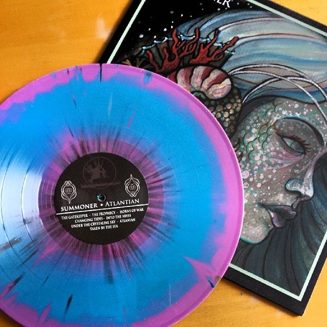 Summoner Atlantian 12 Grimace Purple Aqua Blue W Black Splatter 100pr Vinyl Art Vinyl Record Sleeves Vinyl Player