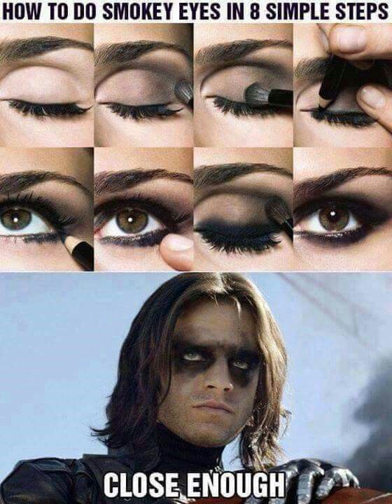 Image result for winter soldier eye makeup