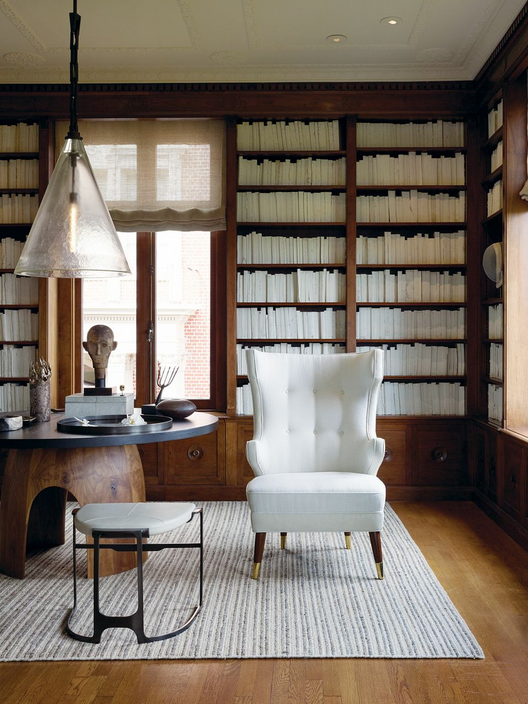 Elegant Aesthetics Speak Volumes A Beautiful Classical Library With Electronic Cool By San