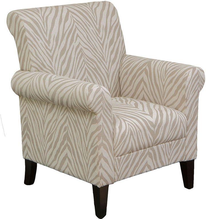 Td National Brand Cius Zebra Print Club Chair