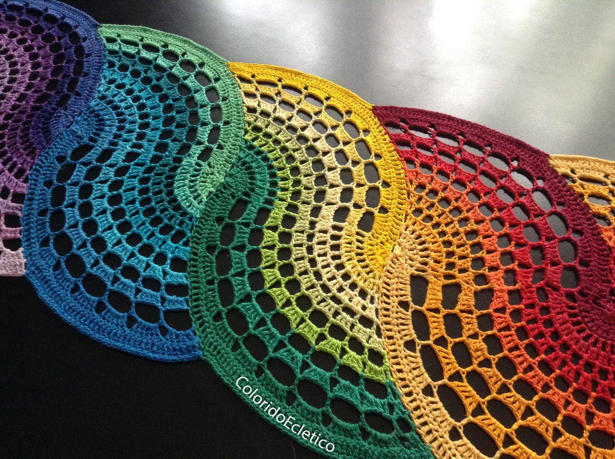 Trilho de mesa espiral colorido passo a passo