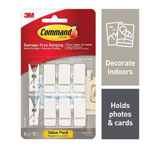 Command Quartz Spring Clips In 2020 Command Hooks Wall Clips Command Strips