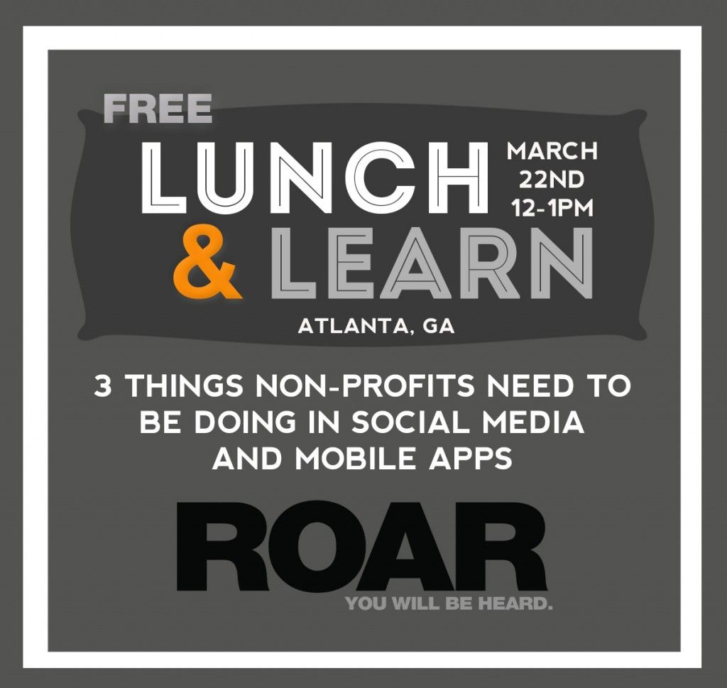 Lunch & Learn for Nonprofits on Social Media and Mobile