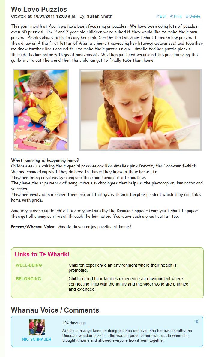Kinder Garden: Infant Developmental Learning Stories Ece
