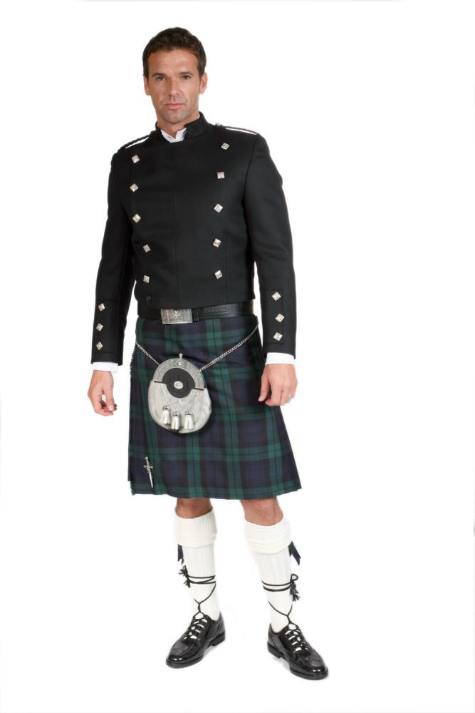 Black Montrose Scottish Kilt Jacket Made In Scotland limited stock Sale