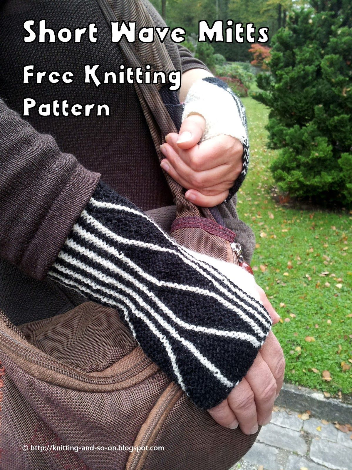 Free knitting pattern for fingerless gloves knitted in two parts - a ...