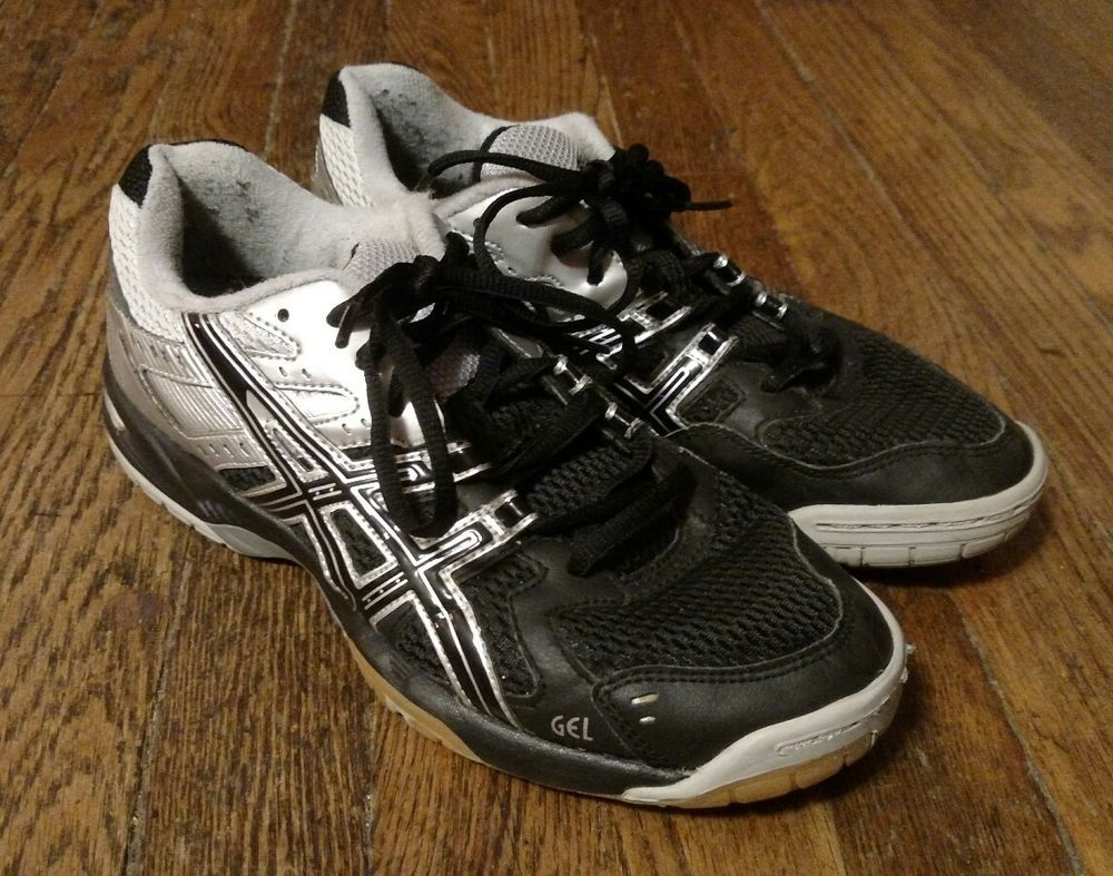 Details about ASICS Gel Rocket B257N BlackSilver Women's Volleyball Shoes Size 8.5