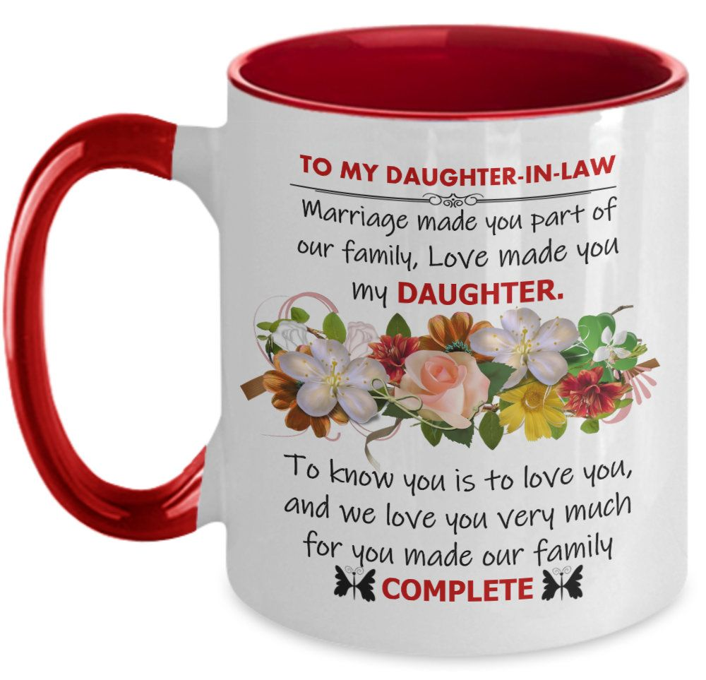Daughterinlaw gift daughter in law mug to my dear etsy