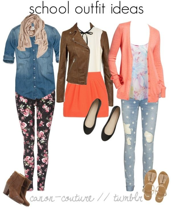 Cute Outfit For School | Teen Fashion | Pinterest | School Polyvore And High Top Chucks
