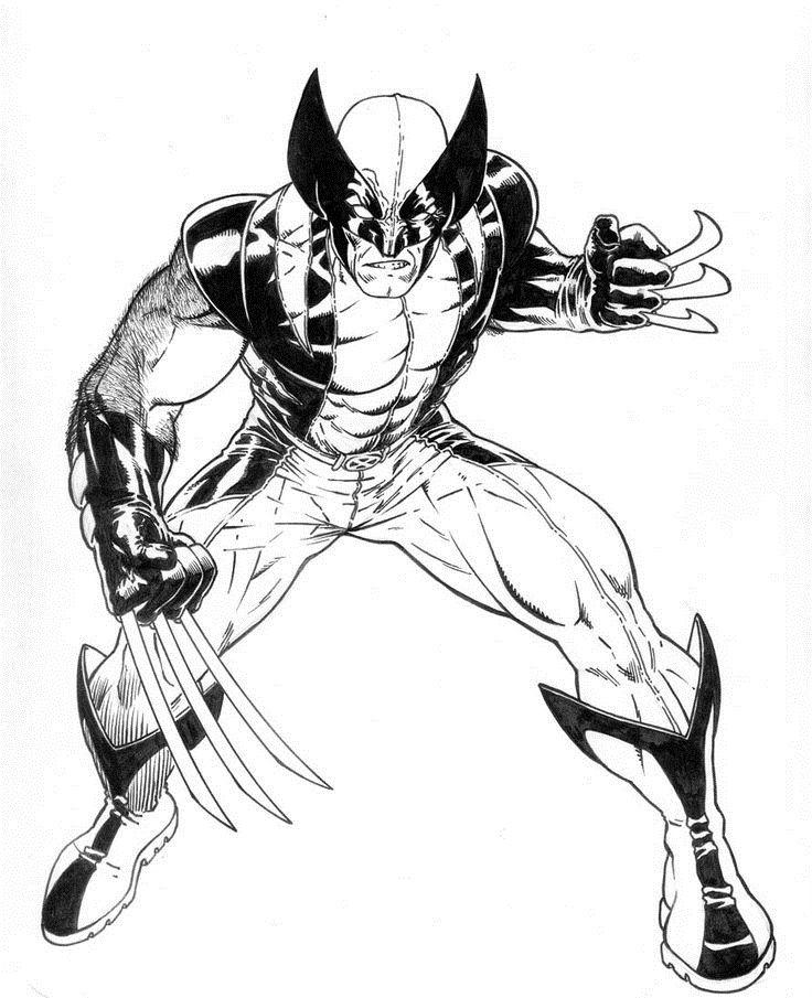 Pin De Keith Gailliard Em Black And White Desenhos Wolverine