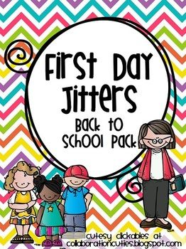 First Day Jitters {Back to School Pack with Printables