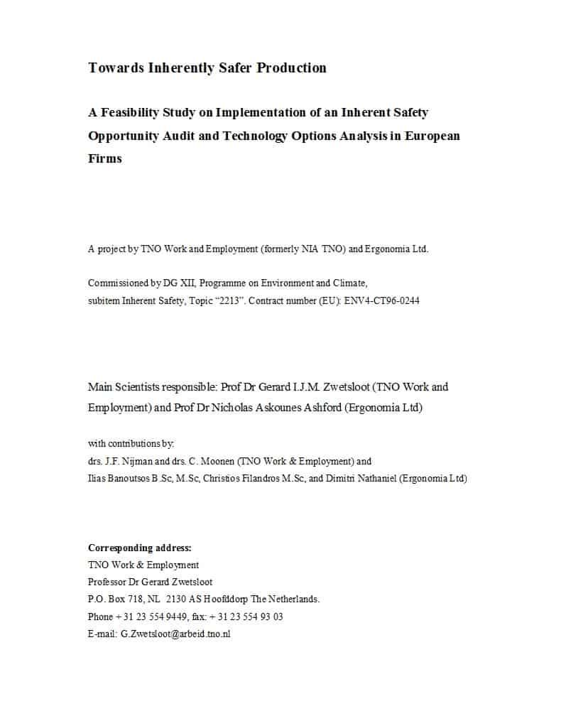 48 Feasibility Study Examples Templates 100 Free ᐅ In