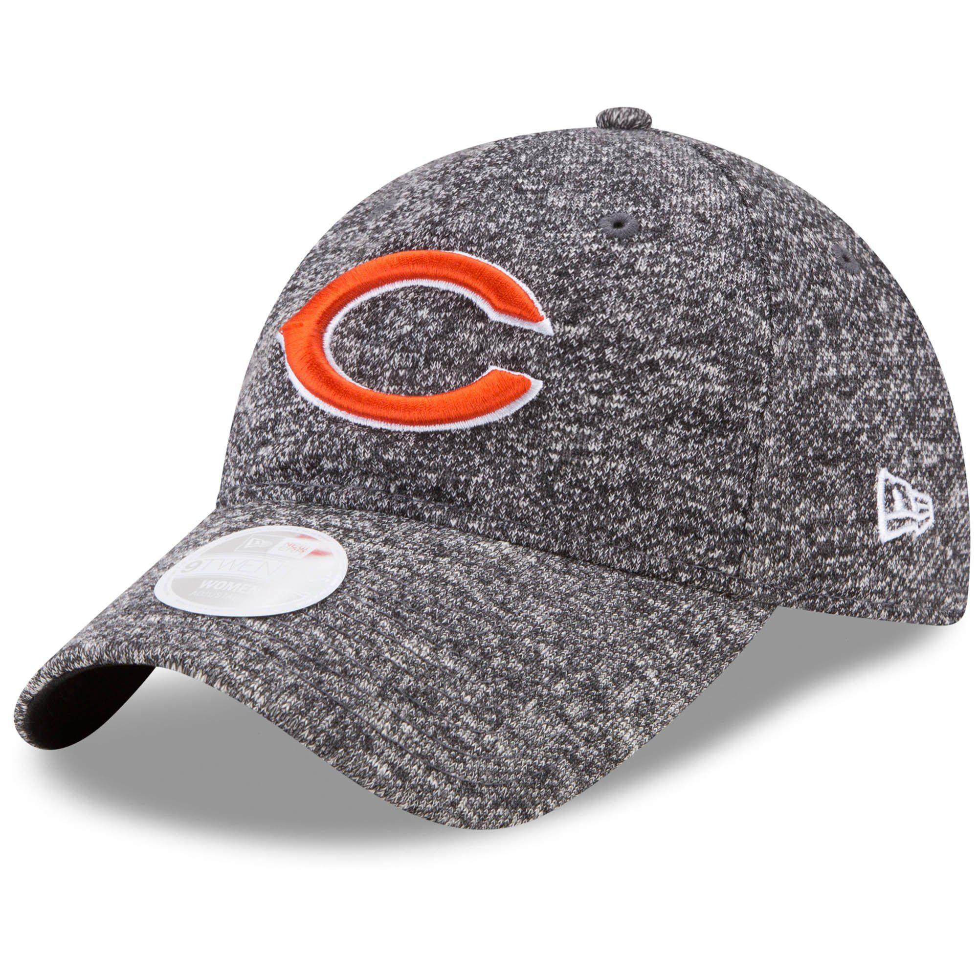 Women s Chicago Bears New Era Heathered Black Total Terry 9TWENTY  Adjustable Hat b94e02d39
