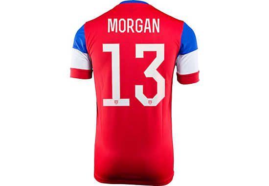 df8d7216654 Nike Kids Alex Morgan USA Away Jersey 2014 Us Soccer