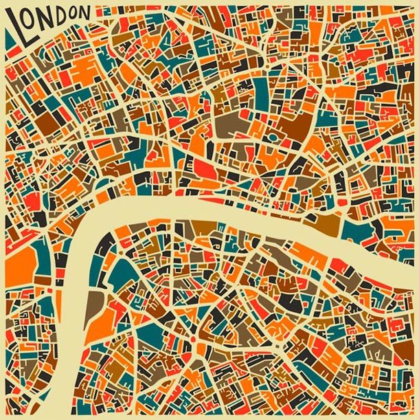 Abstract Cities The Stylized Maps Of The Major Cities City - London map with cities