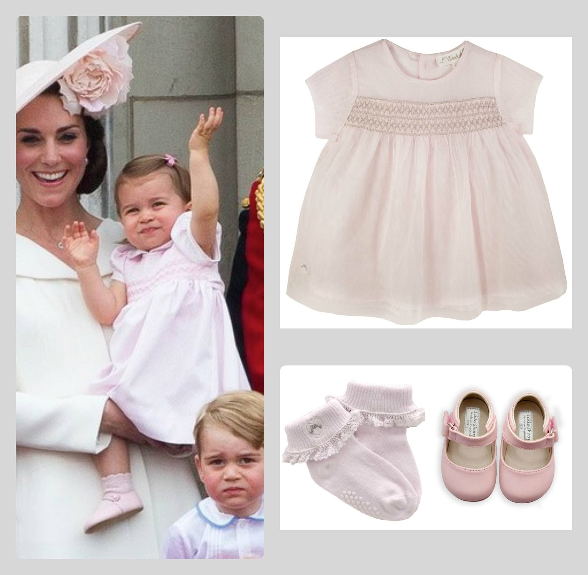 We are loving the styling of Princess Charlotte in her pale pink