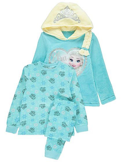 Your little princess will love this soft and shimmery Disney Frozen pyjama  set. Designed from super-soft fleece fabric 4f52e247f3