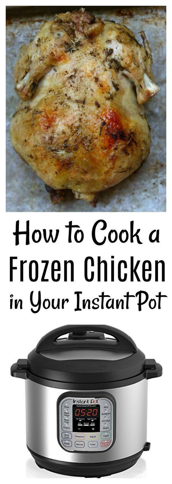 how to slow cook frozen chicken